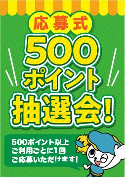 応募式500ポイント抽選会!